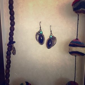 Jewelry - Onyx and turquoise earrings